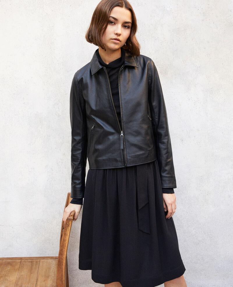 Jacke aus Glattleder Noir Irtylle