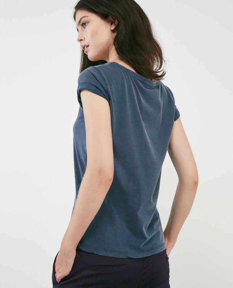 T-shirt mit Léon print Ocean wash Daloupe