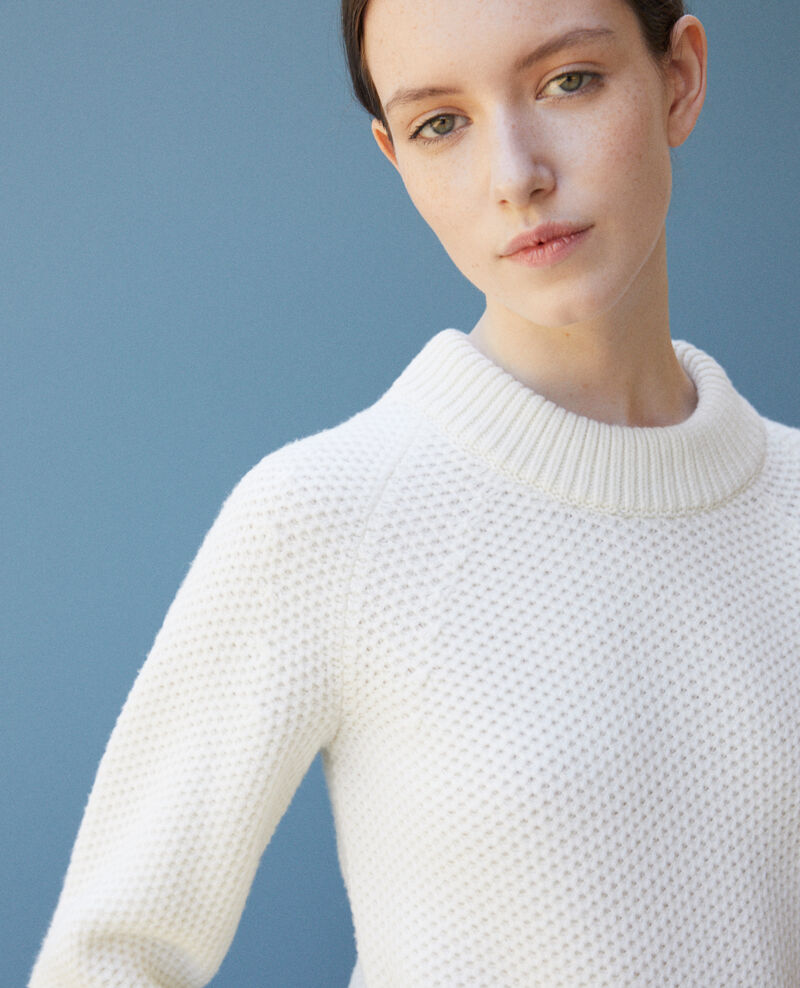 Pullover aus Wolle Off white Ginseng