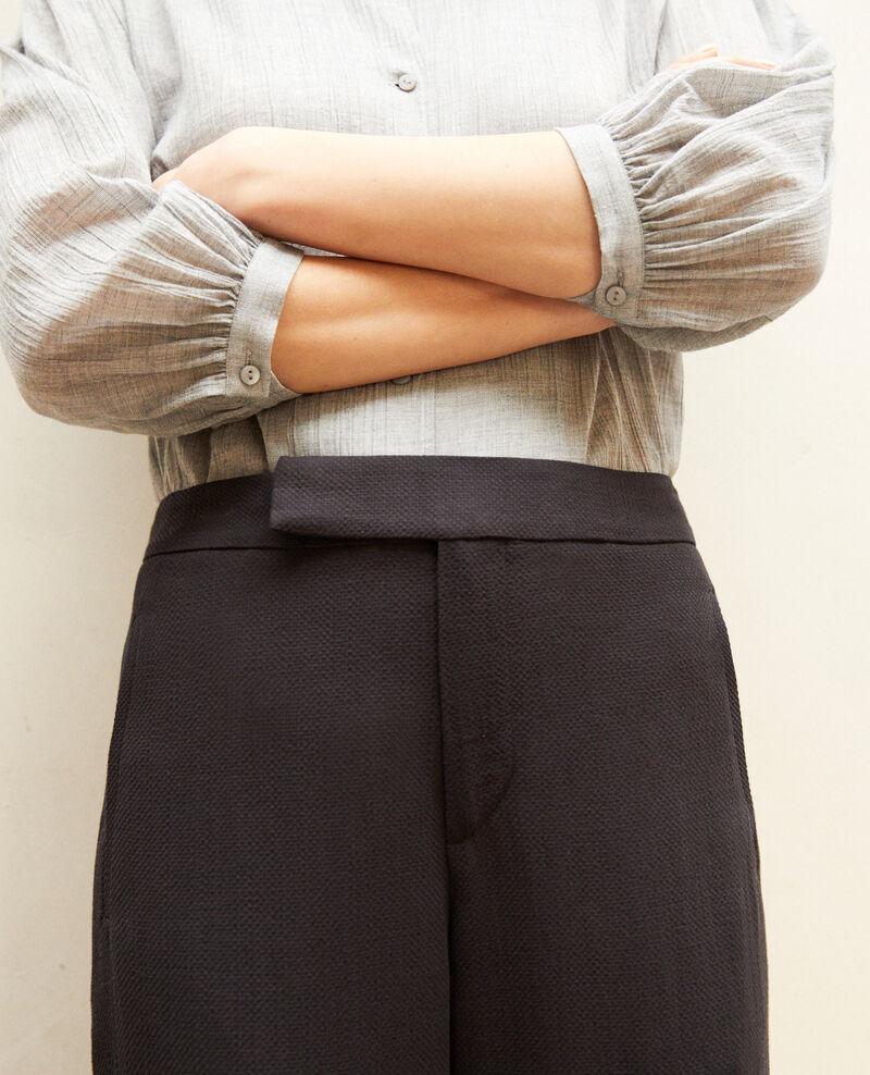 Hose mit hoher Taille Noir Iokyo