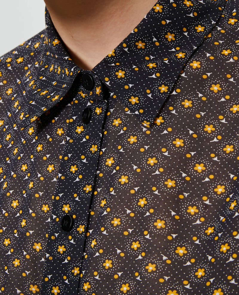 Gemusterte Bluse aus Baumwolle Daisy old gold Nandes