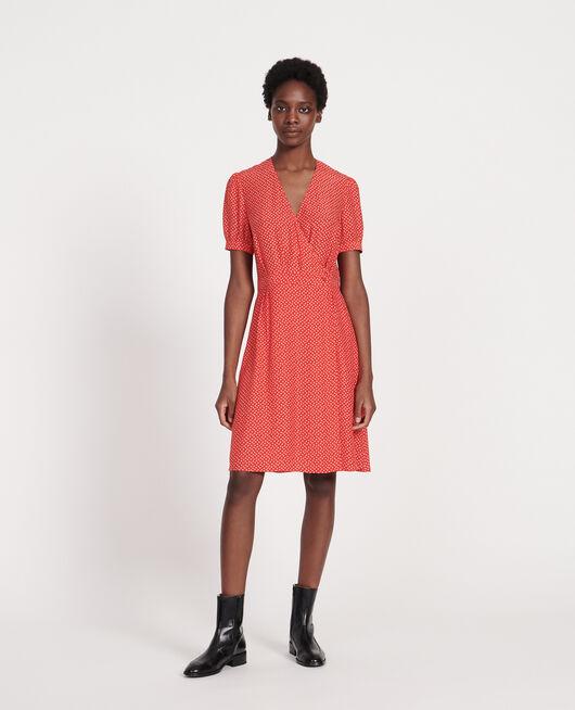 Wickelkleid aus Seide MEMPHIS FIERY RED