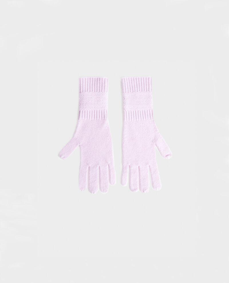 Handschuhe aus Kaschmir Pastel lilac Miramo