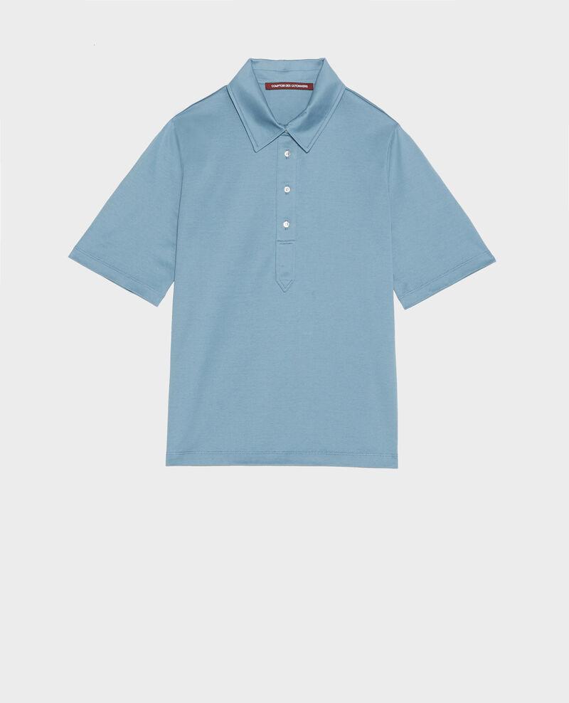 Polo-Shirt aus ägyptischer Baumwolle Bluestone Levas