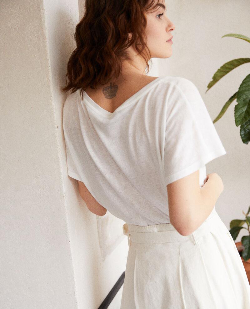 T-Shirt mit weichem Griff Off white Ivoire