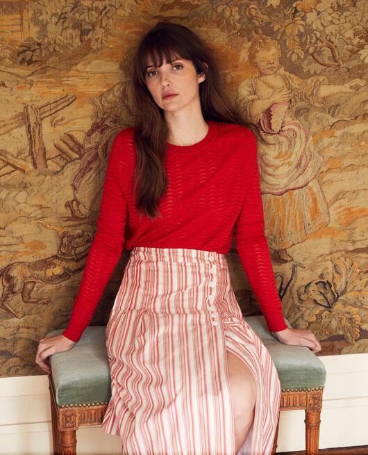 Pullover aus Zierstrick MOLTEN LAVA