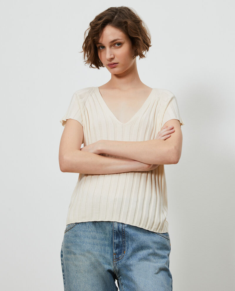 Pullover aus 3D-Strick Buttercream Loupy