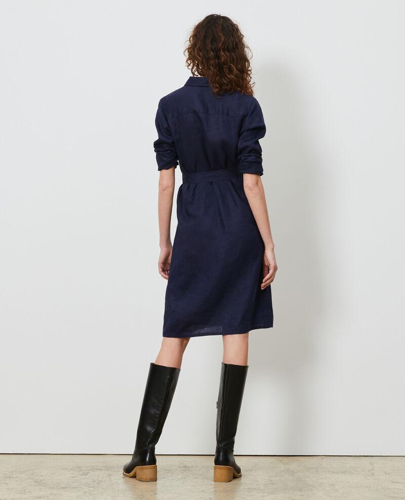 Hemdkleid aus Leinen Maritime blue Lesprit