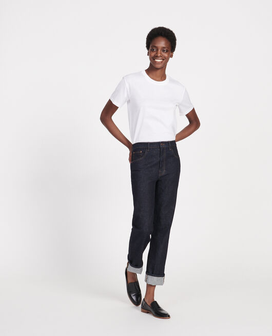Klassisches T-Shirt aus Baumwolle OPTICAL WHITE