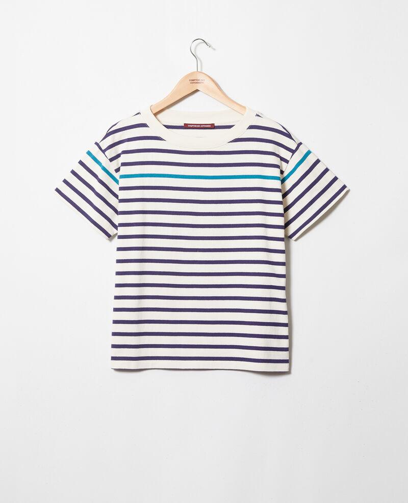 Matrosen-T-Shirt Ow/navy/turquo Ipanka