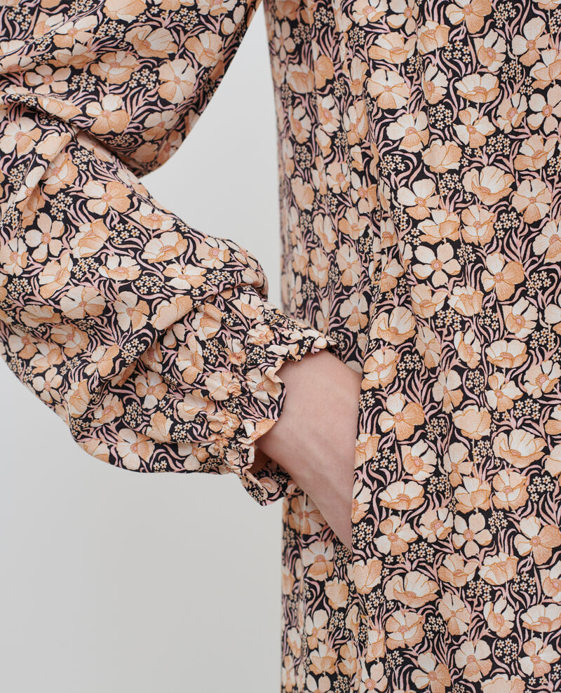 Kurzes gesmoktes Kleid Art deco gold Poisson