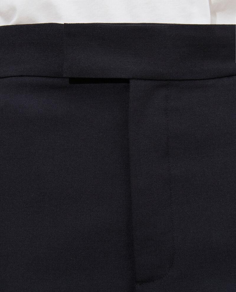 Hose MARCELLE, maskulin, gerader Schnitt, aus Wolle  Black beauty Lisabelle