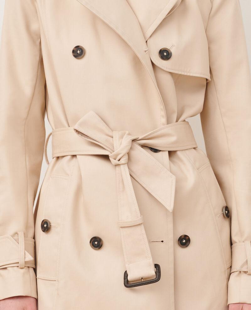 CATHERINE - Mittellanger Trenchcoat aus Baumwolle mit Gürtel Smoke gray Mambert