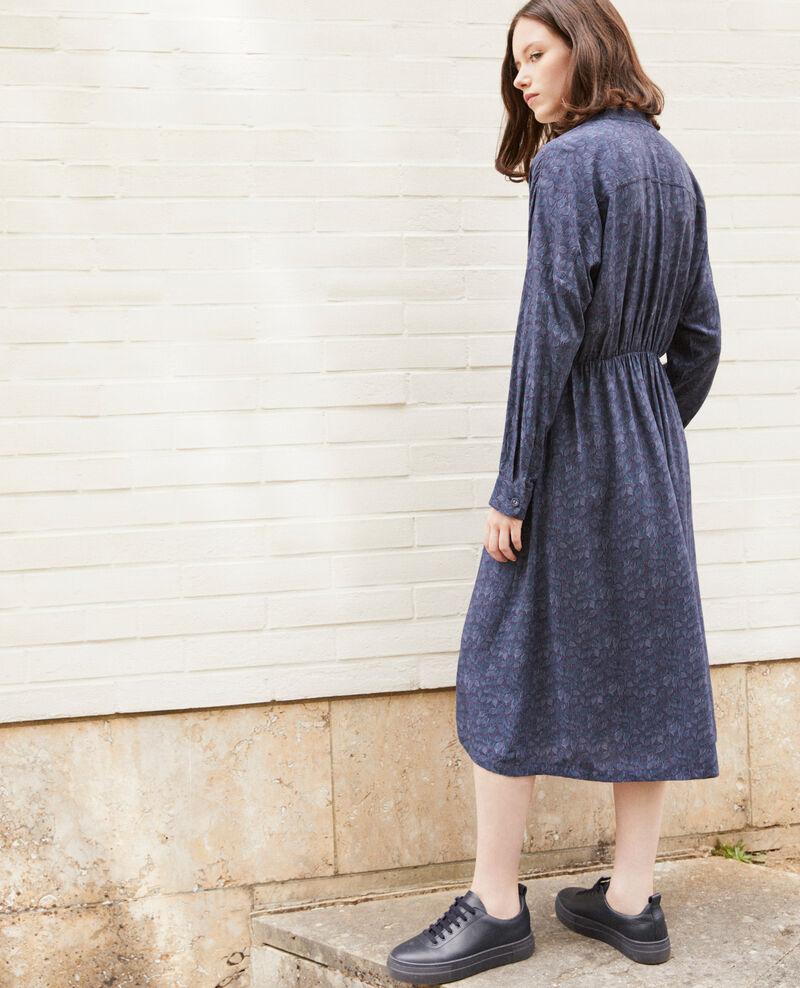 Gemustertes Kleid Blau Geviana