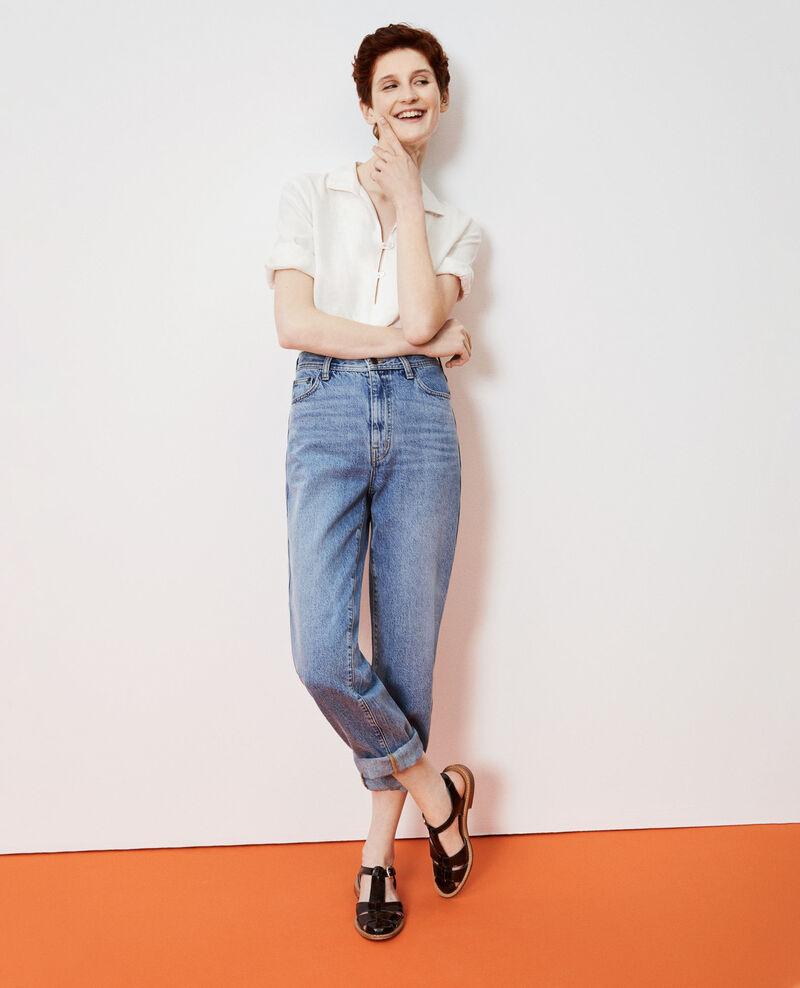 REGULAR - Weite Jeans mit hoher Taille Vintage wash Nastage