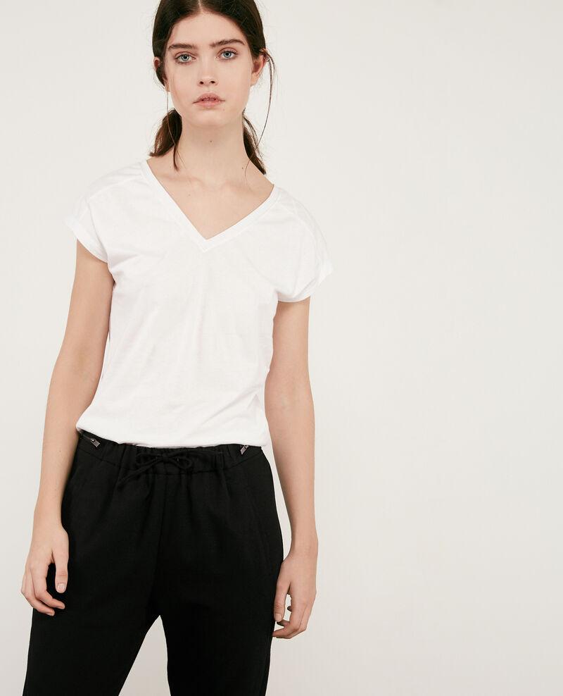 T-Shirt mit Lurex-Details Off white 9dactylo