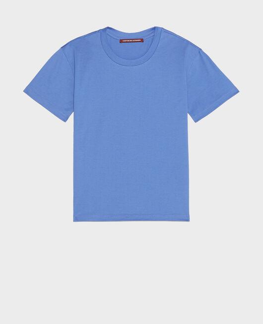 Klassisches T-Shirt aus Baumwolle AMPARO BLUE
