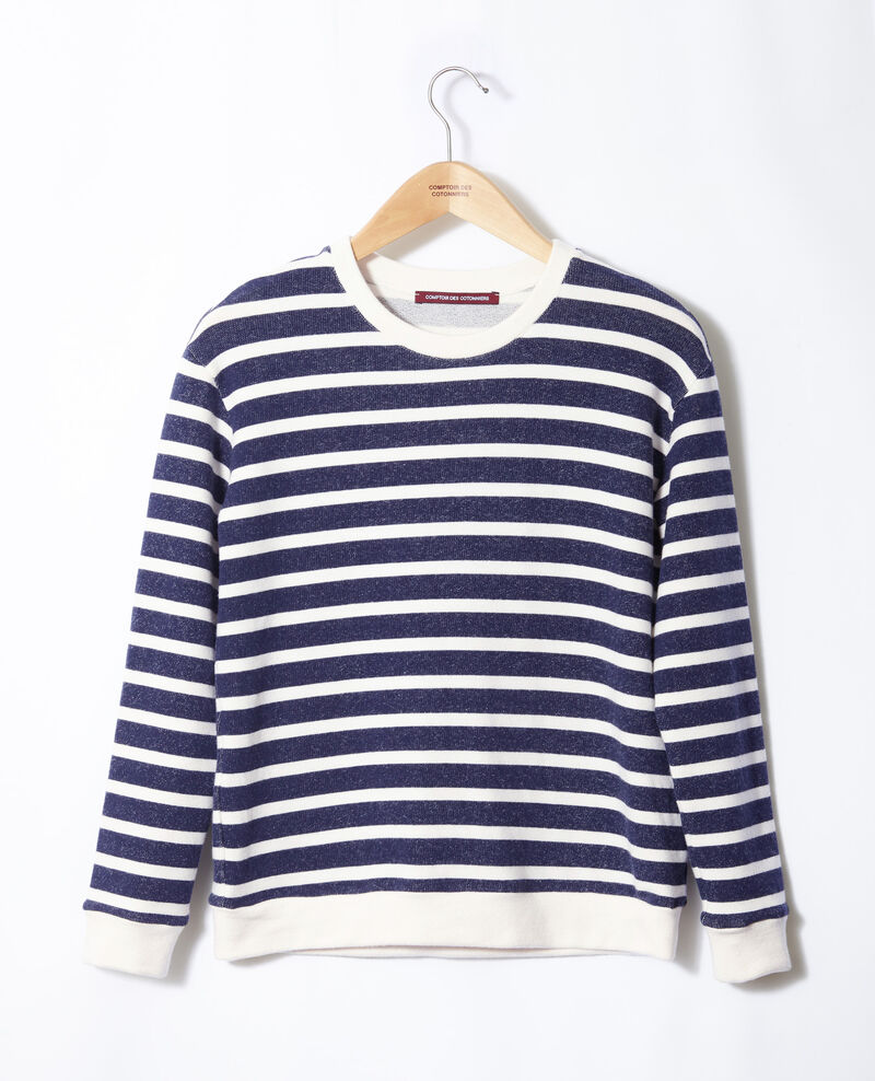 Matrosen-Sweatshirt Weiß Gikrame