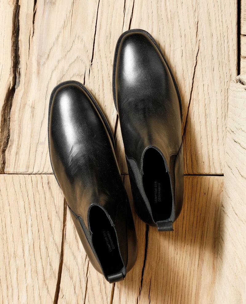 Stiefeletten aus Glattleder Schwarz Gomme