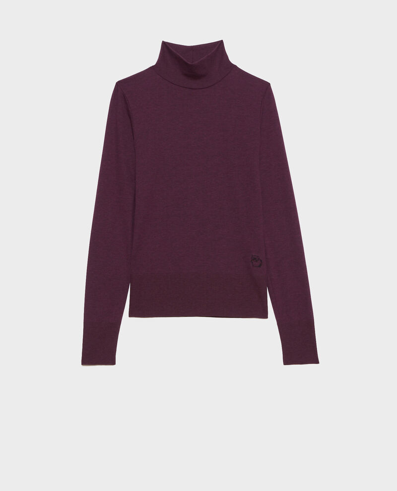 Dünner Rippstrick-Pullover Potent purple Pylka