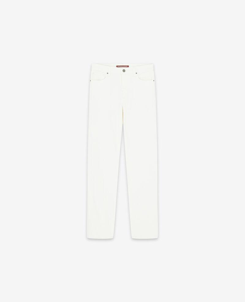 Jeans in Zigarettenform mit Pfirsichhauteffekt Off white Dhanna
