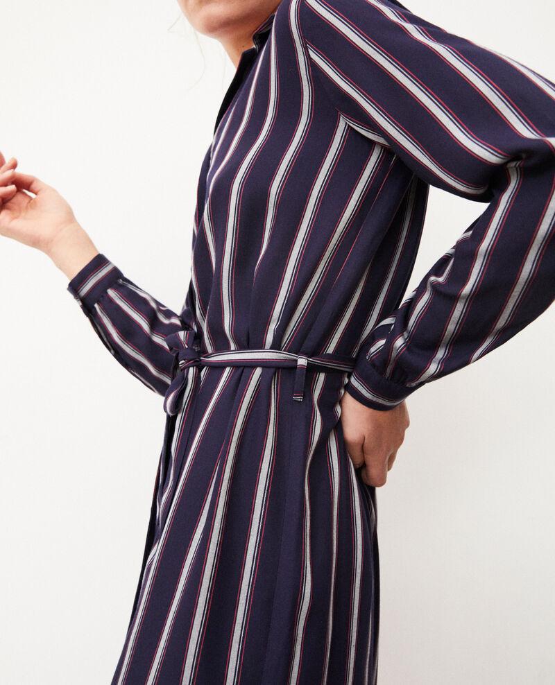 Kleid mit offenem Kragen  Blau Gloria