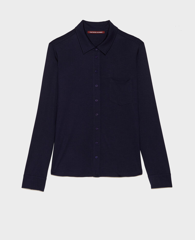 Bluse aus Seidenjersey Maritime blue Leanor