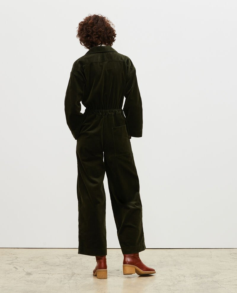 Langer Oversize-Jumpsuit aus Cord Military green Marmax