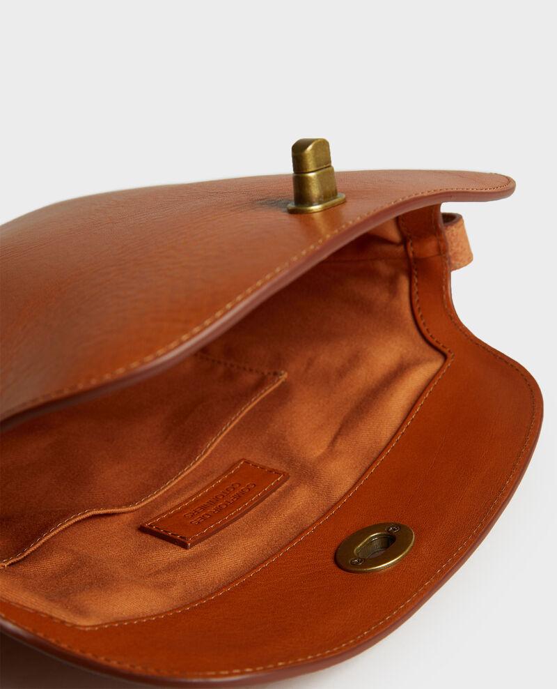 Tasche aus genarbtem Leder Camel Lidylle