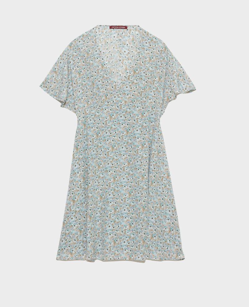 Kurzes Seidenkleid Art deco blue Pabydoll