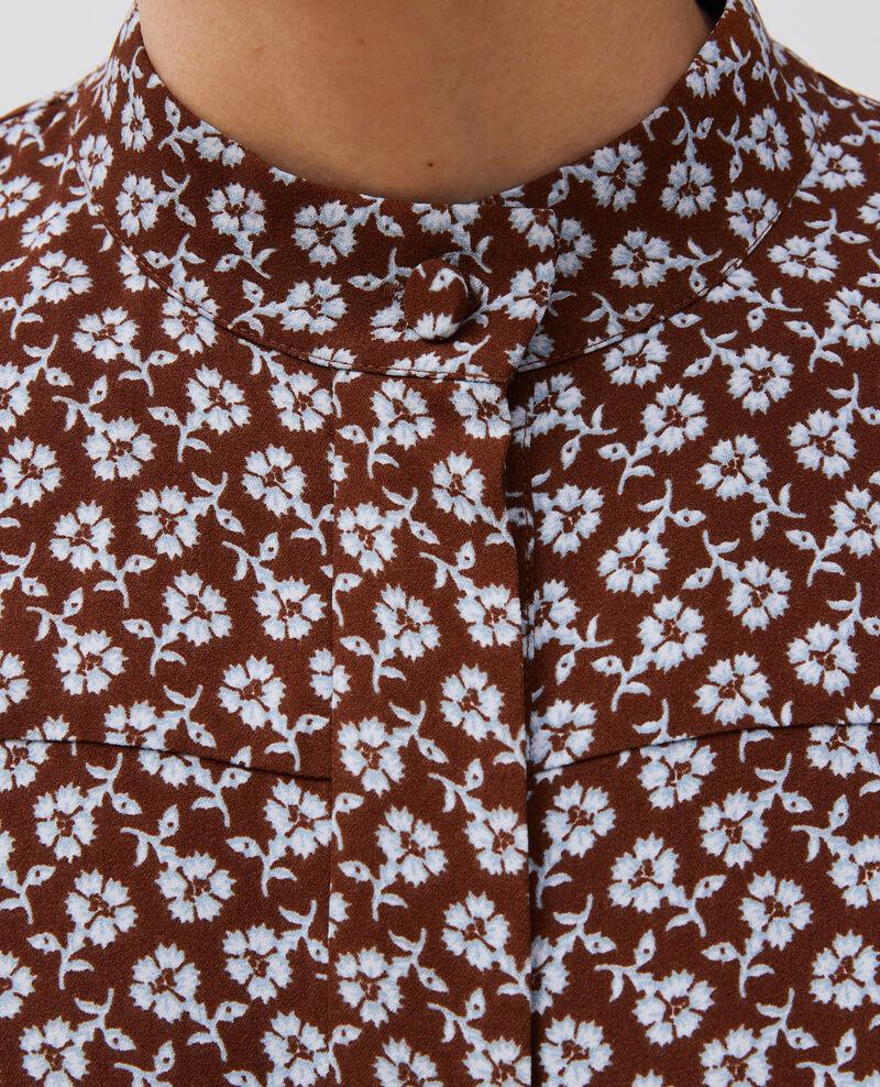 Langärmlige Bluse mit Blumenprint Print fleurettes tortoise shell Manrant