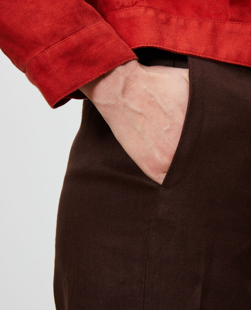 Hose mit hoher Taille aus Leinen Mole Neronde