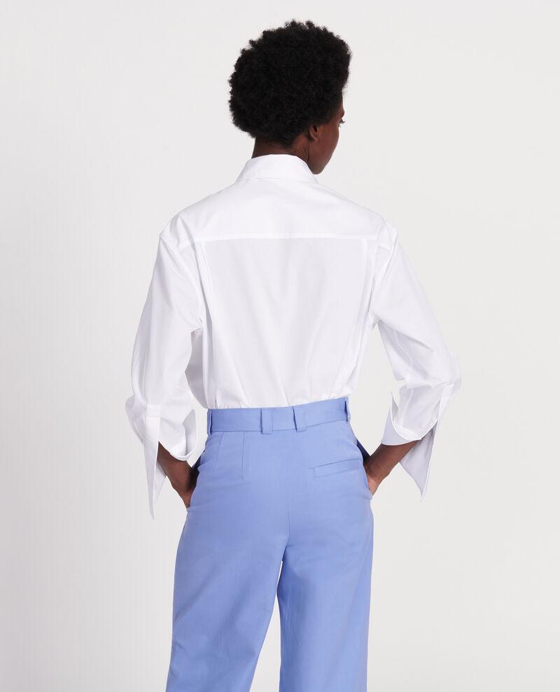 Bluse aus Baumwoll-Popelin Optical white Lauryl