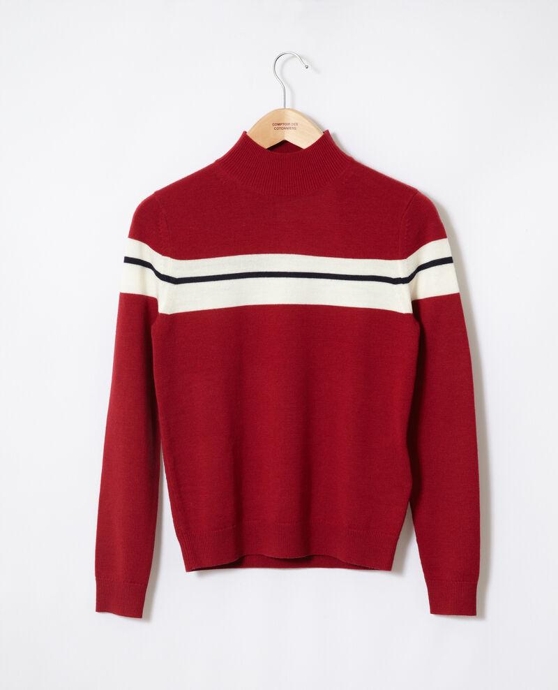 Pullover aus Merinowolle Rot Gligne