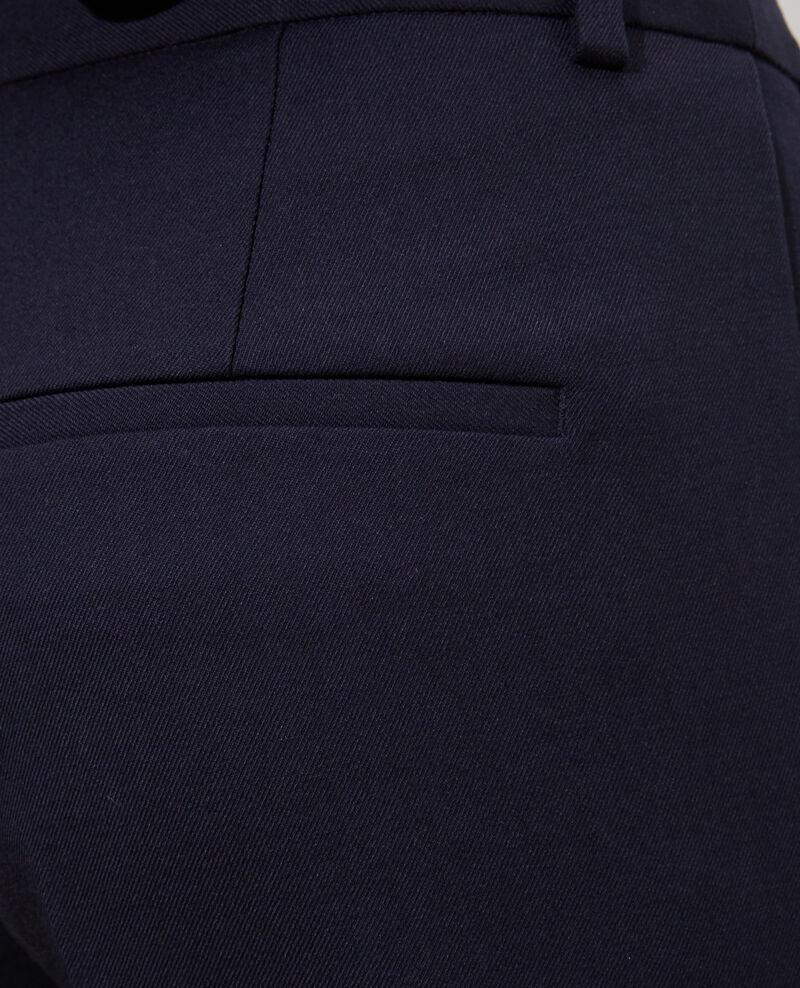 Hose MARGUERITE, 7/8-Zigarettenhose aus Wolle Night sky Noko