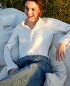 Bluse aus Leinen Off white Igram