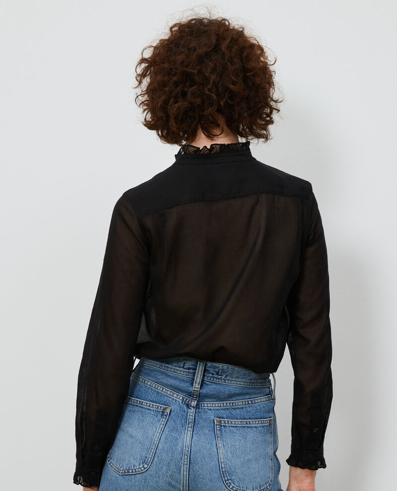 Bluse mit Volant-Kragen Black beauty Nacelle