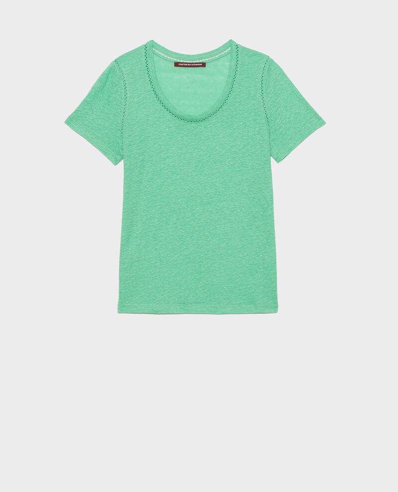 T-Shirt aus Leinen Jade cream Lye