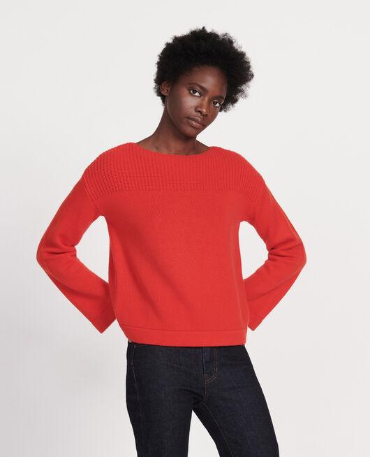 Pullover aus Wolle und Kaschmir FIERY RED