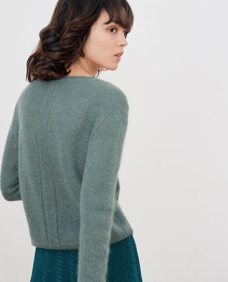 Pullover mit Mohair Dark celadon Feever