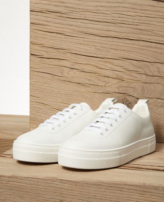 Plateau-Sneakers Weiß