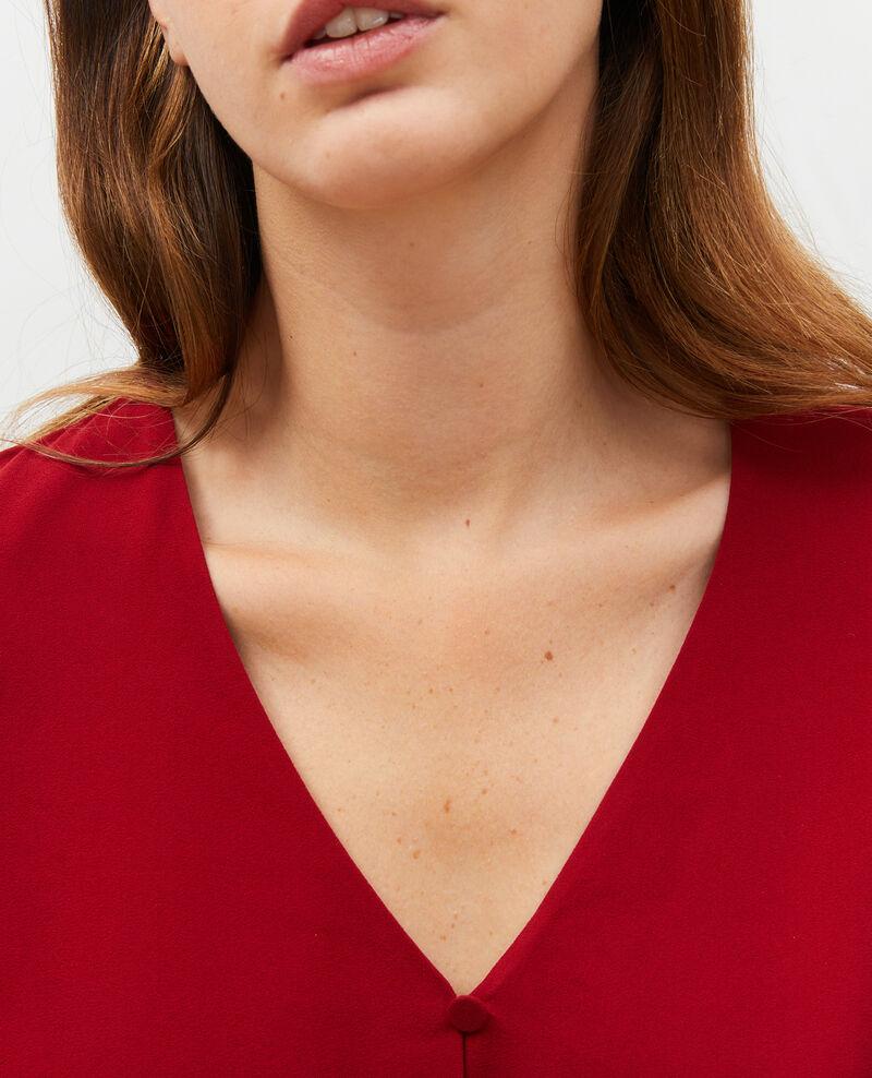 Taillierte Bluse mit V-Ausschnitt  Royale red Marguerin