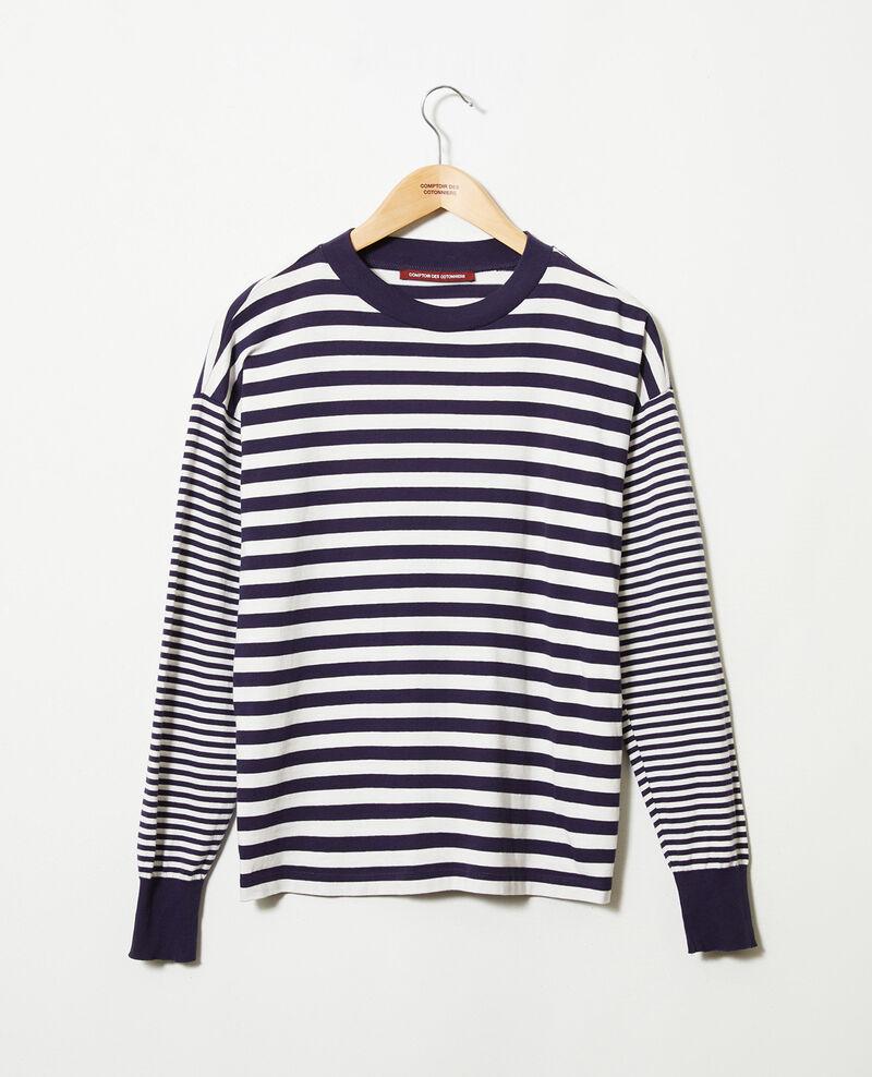 T-Shirt im Marinelook aus Baumwolle Butter/evening Jeidala