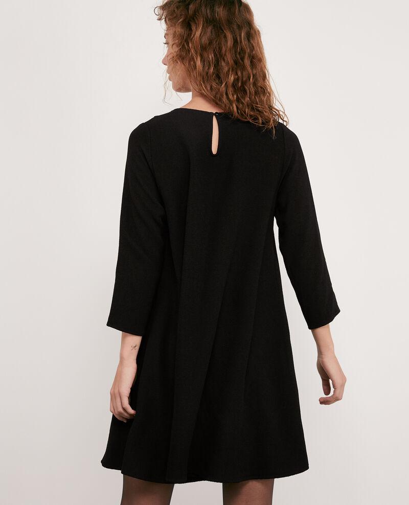 Kleid mit Claudine-Kragen Noir Donatella