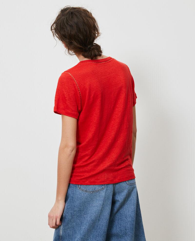 T-Shirt aus Leinen Fiery red Lye