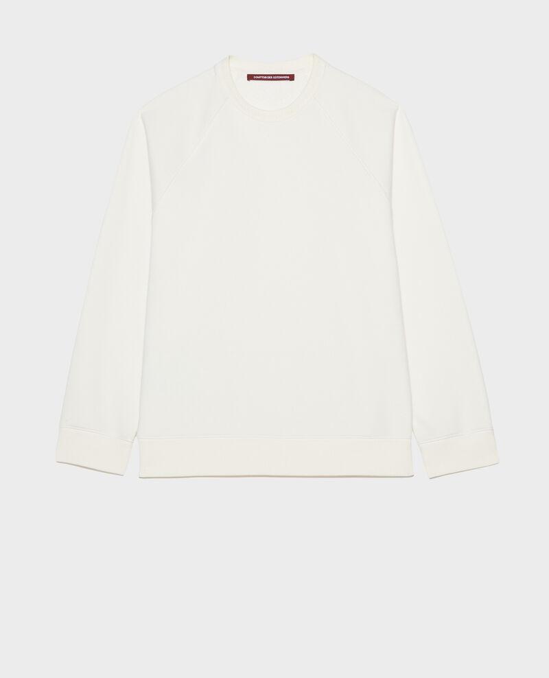 Sweatshirt aus Molton Gardenia Lison