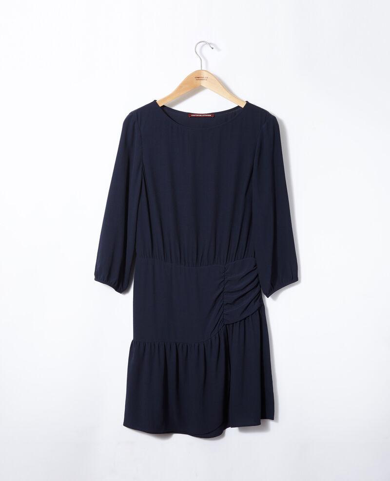 Kleid mit Rüsche  Blau Fortement