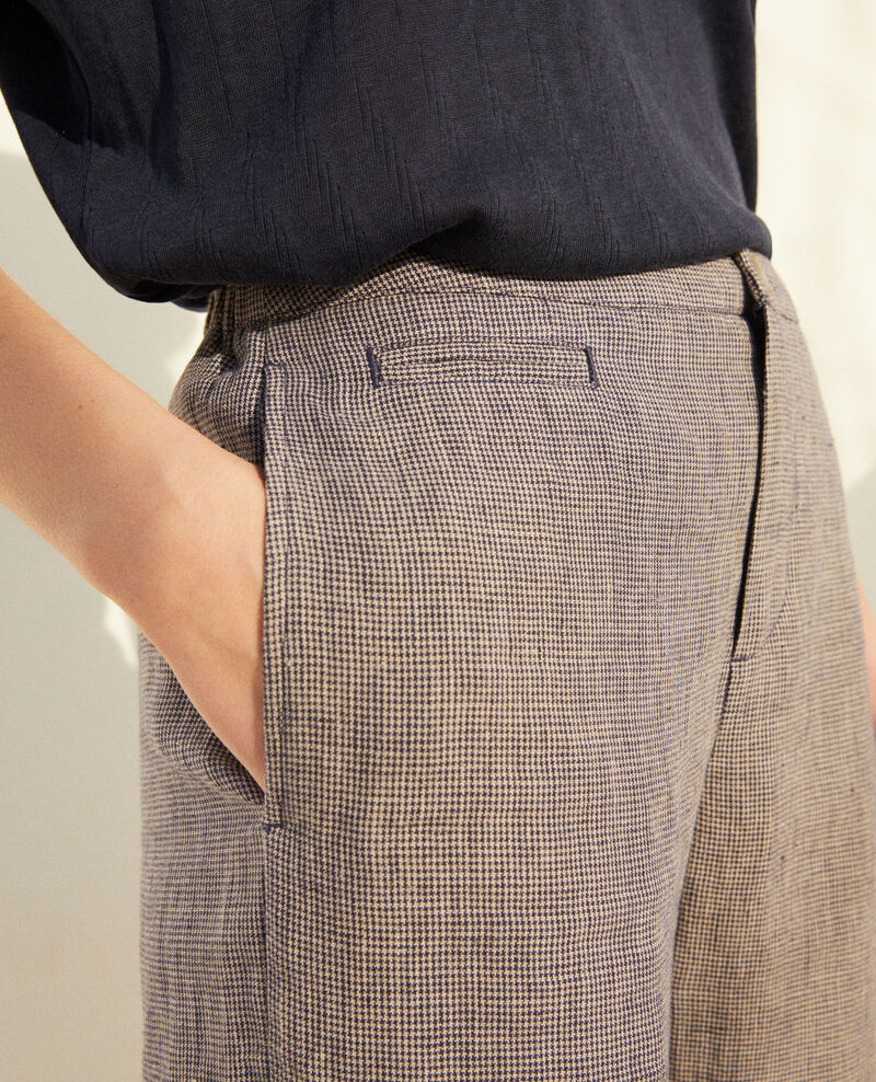 Karottenhose Natural linen/ink navy Iphonow