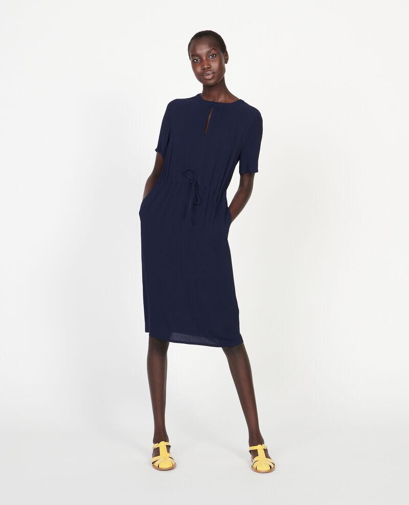 Gerades und fließendes Kleid Maritime blue Legris