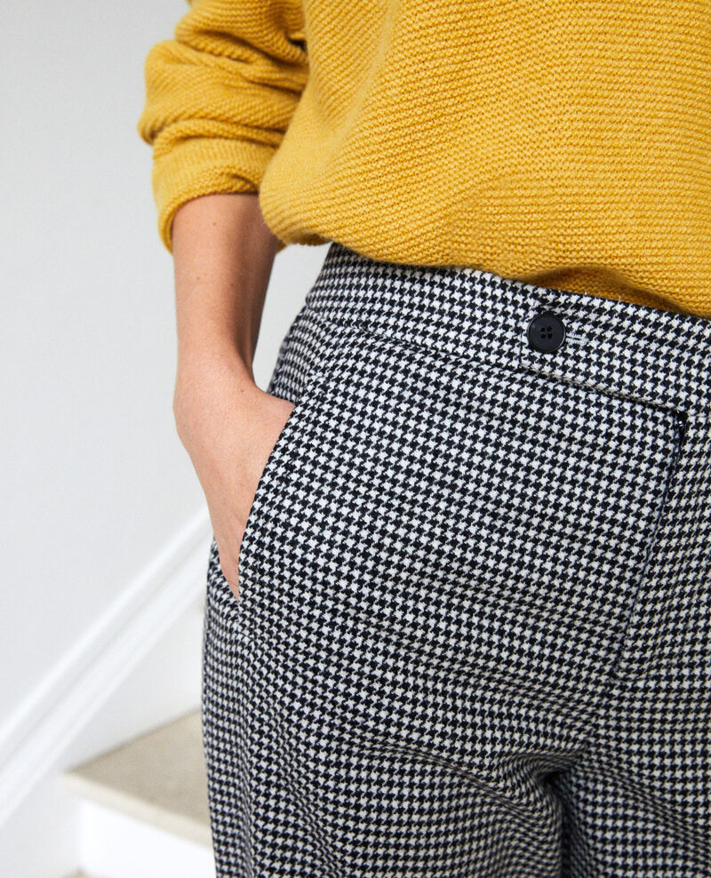 Weite Flanellhose mit Hahnentrittmuster Houndtooth Jitac